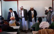 وكيل المحافظة المهندس عبدالله الحاشدي يدشن اختبارات نهاية الفصل الدراسي الأول بالجوف