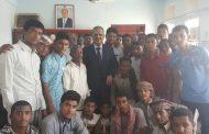 وزير التربية د. عبد الله لملس يلتقي بوفد طلابي من سيئون