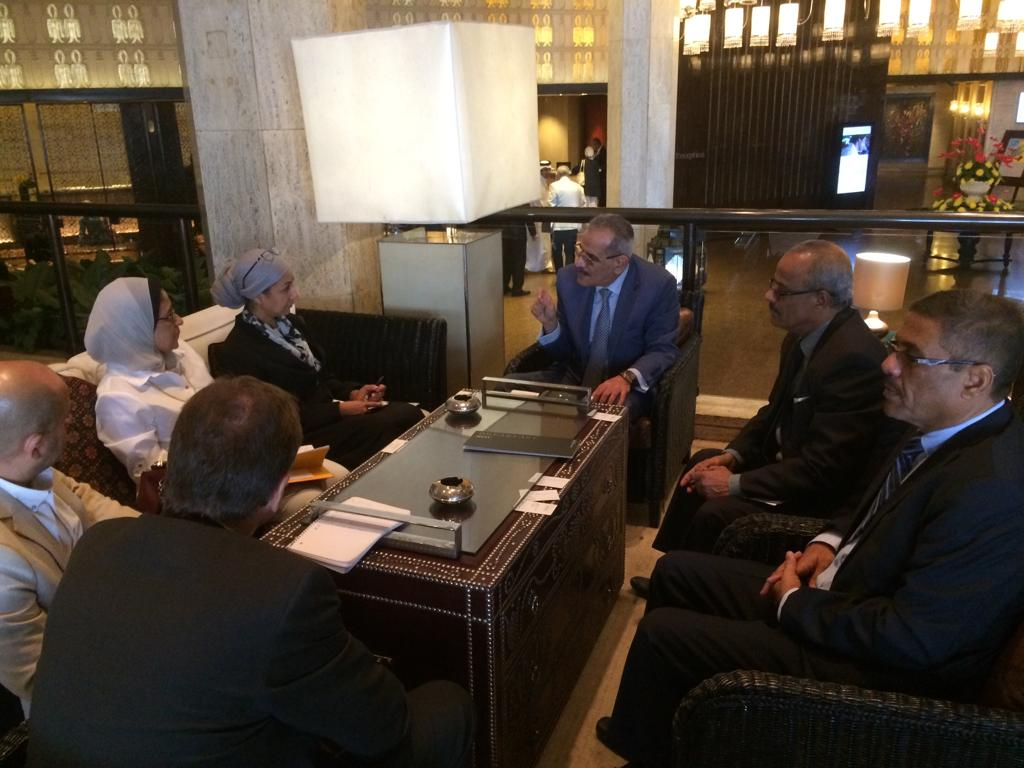 د. لملس يلتقي بوفد مجموعة البنك الدولي منطقة الشرق الاوسط بالقاهرة