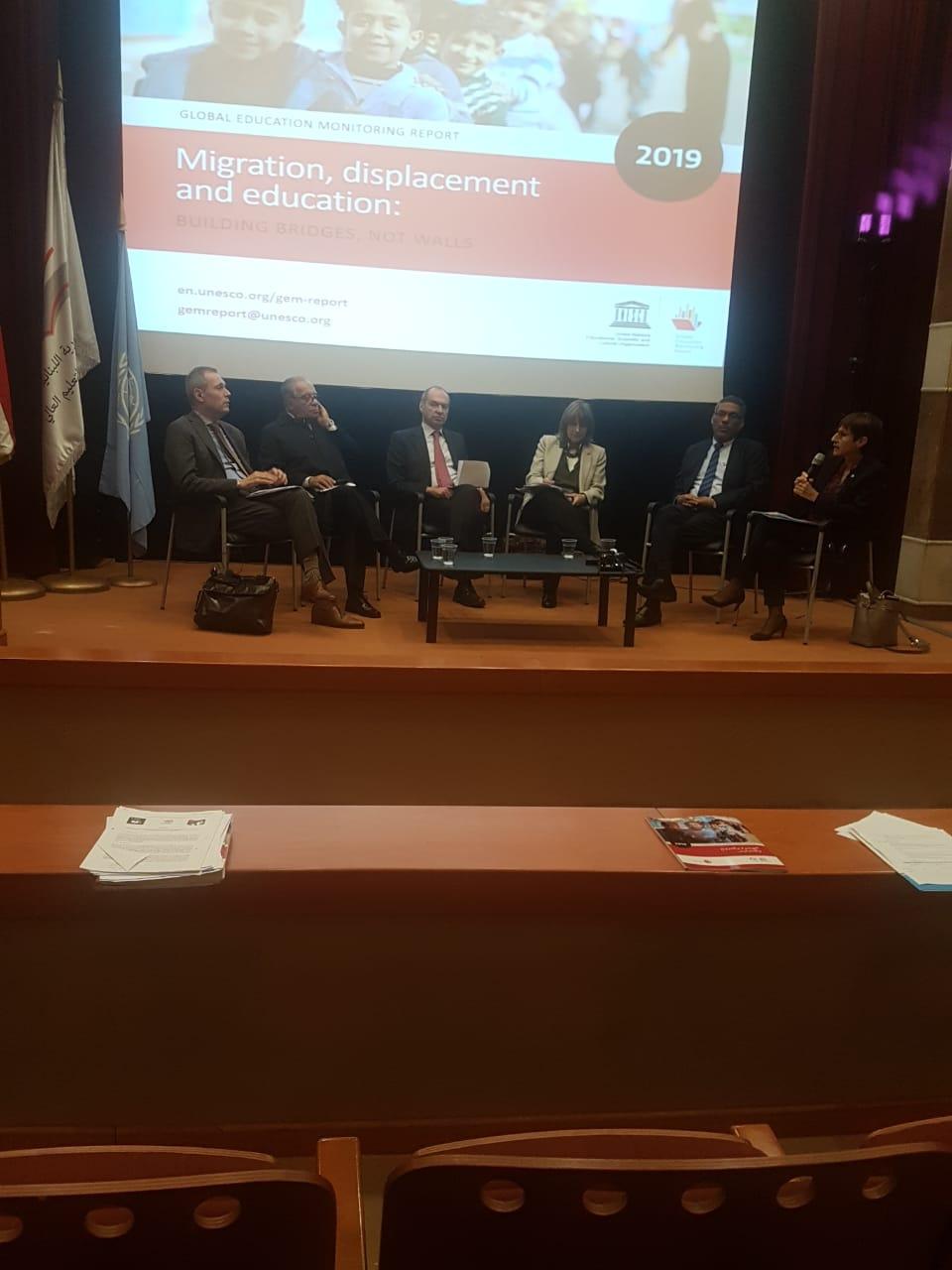 حفل إطلاق تقرير المرصد التعليمي حول الهجرة والنزوح والتعليم في بيروت