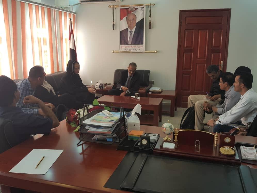 وزير التربية يلتقي مسؤولة التغذية المدرسية بمنظمة wFP