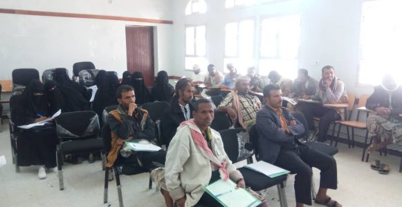 استمرار الدورة التدريبية لفريق التغذية المدرسية في مديرية عتق بمحافظة شبوة