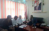 وزير التربية د. عبدالله لملس يلتقي مدير الصندوق الاجتماعي للتنمية بعدن