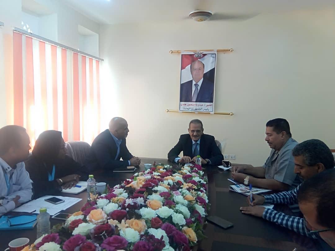وزير التربية د. عبدالله لملس يلتقي منظمة اليونيسيف حول برنامج الشراكة العالمية للتعليم