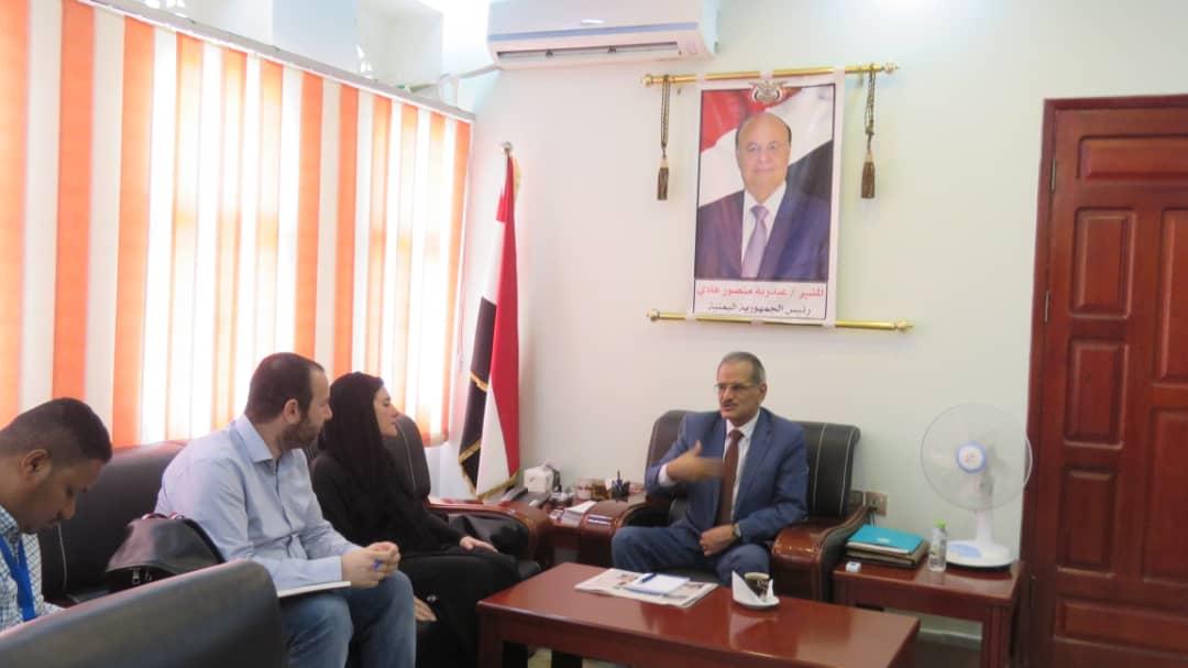 وزير التربية والتعليم د. عبد الله لملس يلتقي المفوضية السامية للاجئين