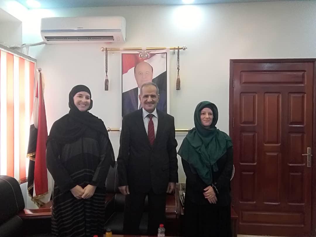وزير التربية د. عبدالله لملس يلتقي وفد منظمة رعاية الاطفال بالدنمارك في عدن