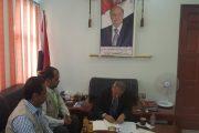 وزير التربية د. عبد الله لملس يلتقي مؤسسة شباب أبين