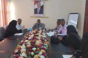 اجتماع لفريق عمل مراجعة (دليل مخاطر الألغام) بوزارة التربية في عدن