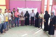 مدير عام الصحة المدرسية تدشن حملة توعية بيئية وغرس شتلات زراعية في رياض ومدارس مديرية البريقة