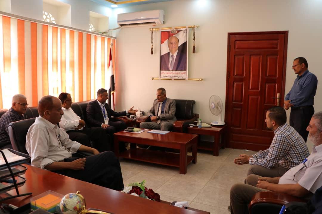 وزير التربية لملس يلتقي نائب المدير التنفيذي للصندوق الاجتماعي للتنمية