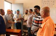 وفد دولي من مشروع التعليم بمنظمة اليونيسيف يزور مكتب التربية والتعليم لحج.