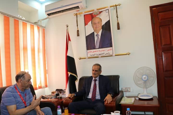 وزير التربية د. عبدالله لملس يلتقي منظمة رعاية الأطفال بعدن