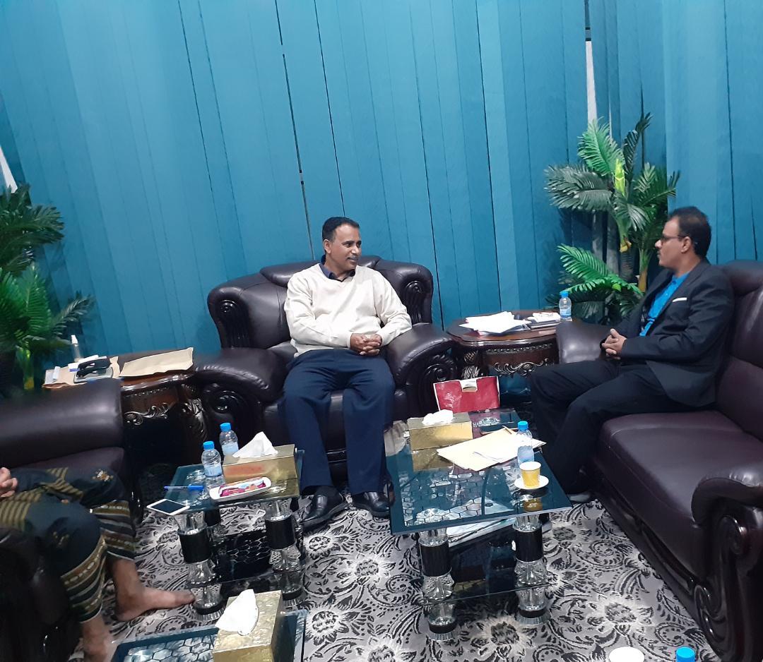 وكيل أول الوزارة ـ مدير تربية حضرموت يلتقي مستشار المحافظ المقدم سالم بن سميدع