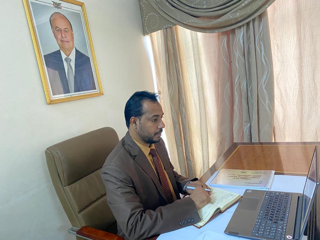 وزير التربية يناقش عبر تقنية الاتصال وسبل الشراكة مع مشروع البنك الدولي لدعم التعليم