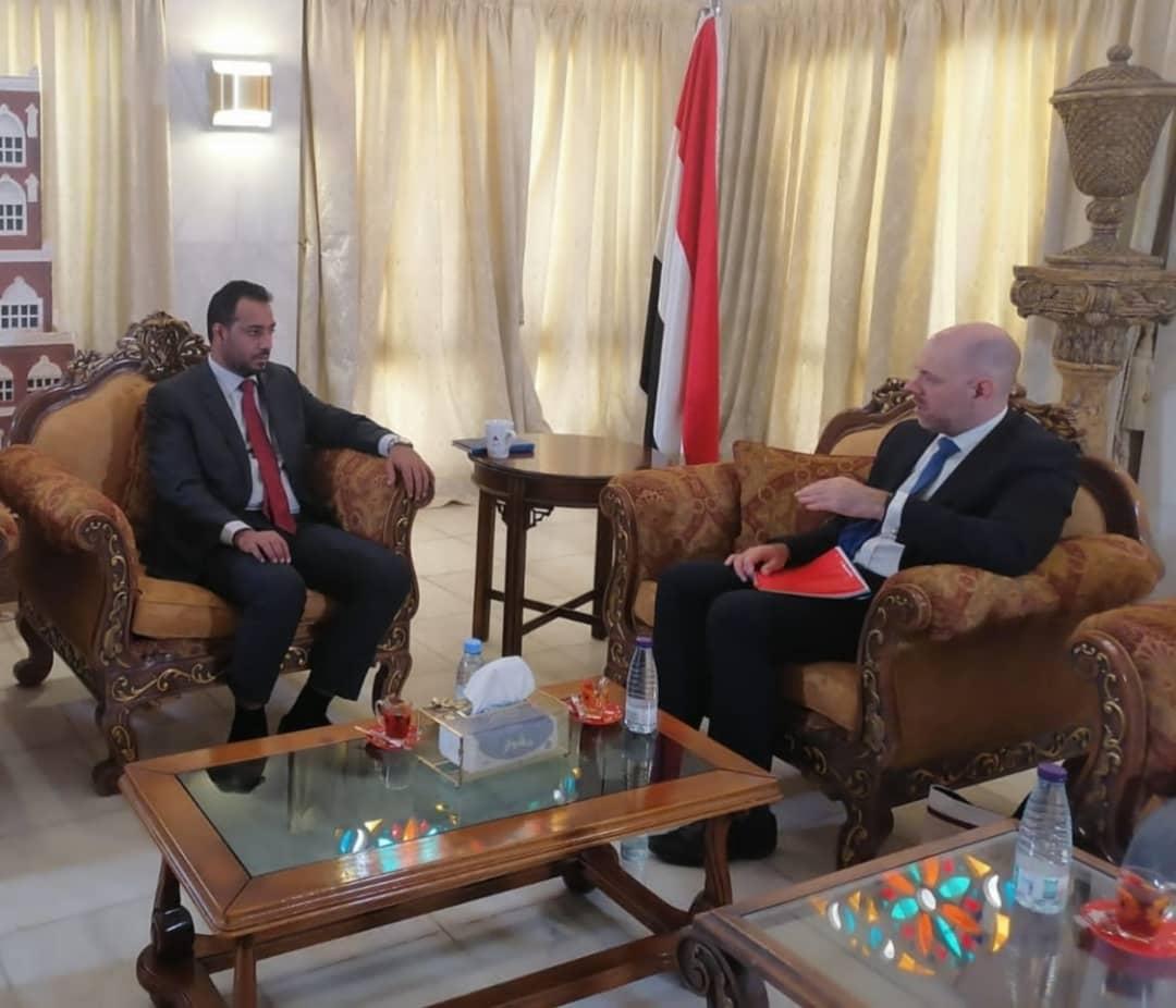 وزير التربية يناقش مع سفير المملكة المتحدة سبل دعم القطاع التعليمي