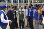 د.باسليم يتفقد المشاريع المنفذة من قبل منظمة الهجرة الدولية